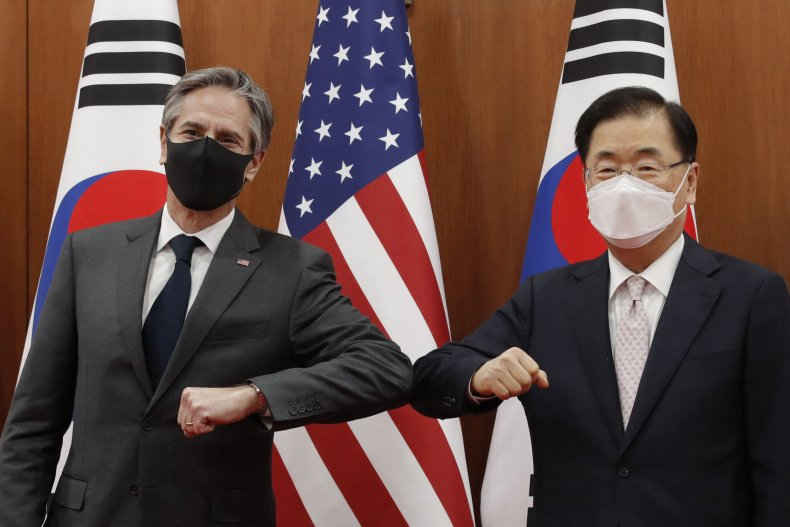 Secretary Antony Blinken Meets South Korean Officials