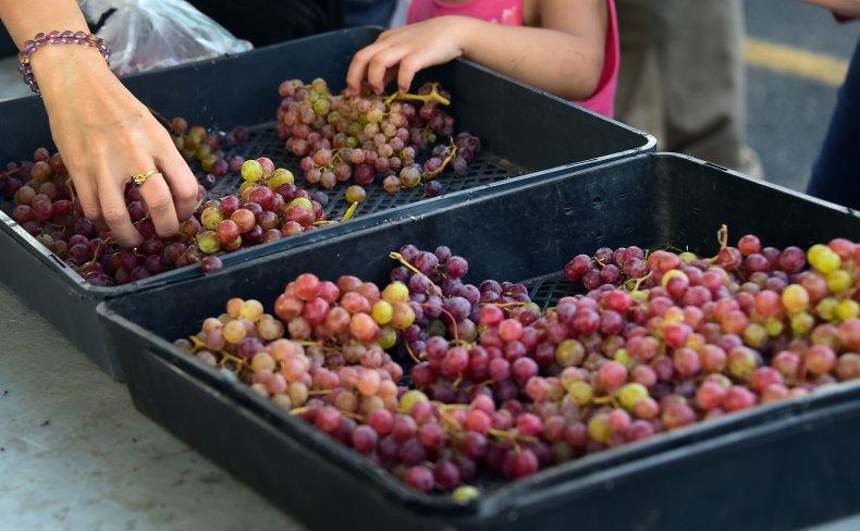 Grapes California market