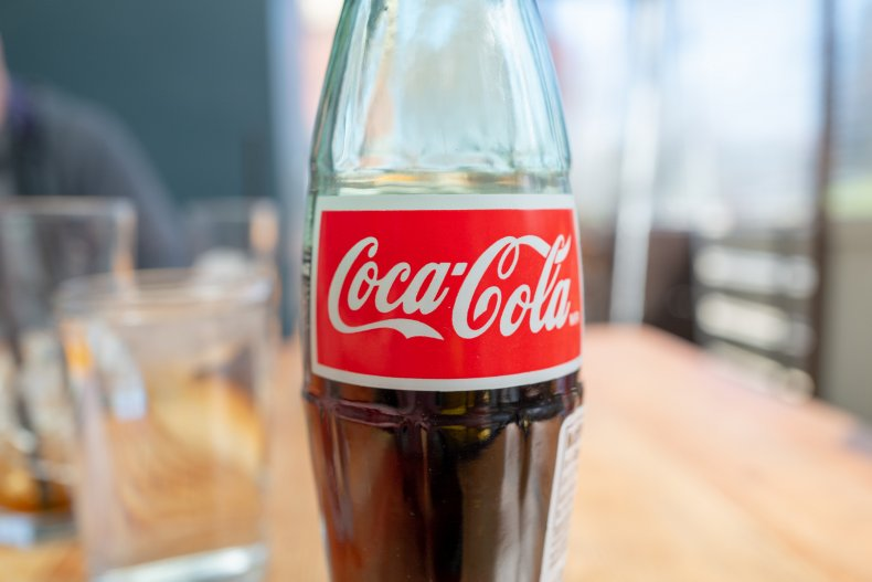 Coca-Cola bottle in California in 2021