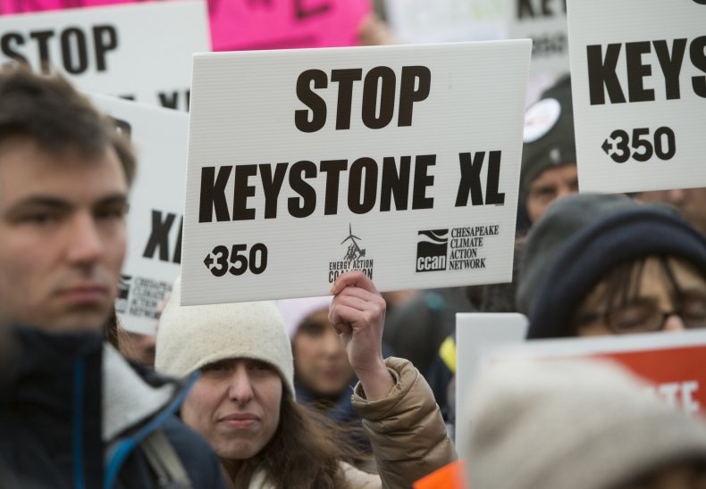 Keystone XL pipeline protesters