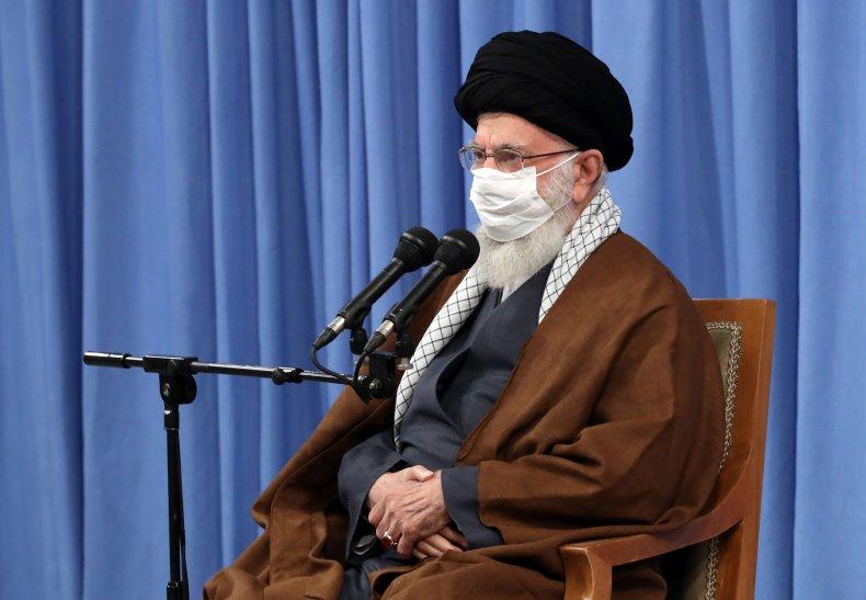 Ali Khamenei speaks in Tehran in 2020