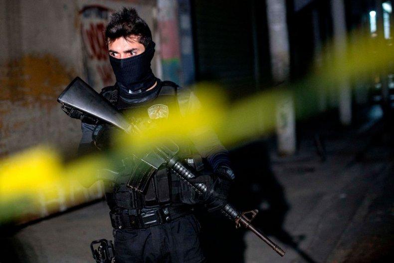 Brazilian policeman Rio de Janeiro