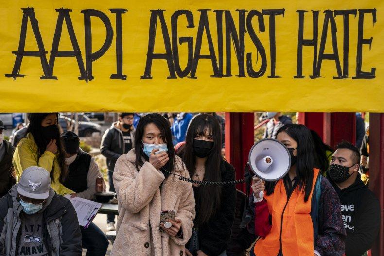 asian, americans, pacific, islanders, rally, hate