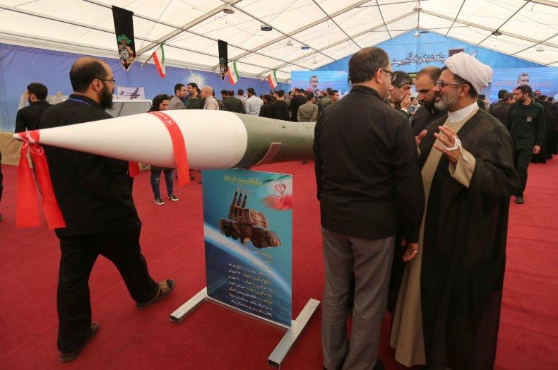 Iran missile at exhibit in Tehran museum