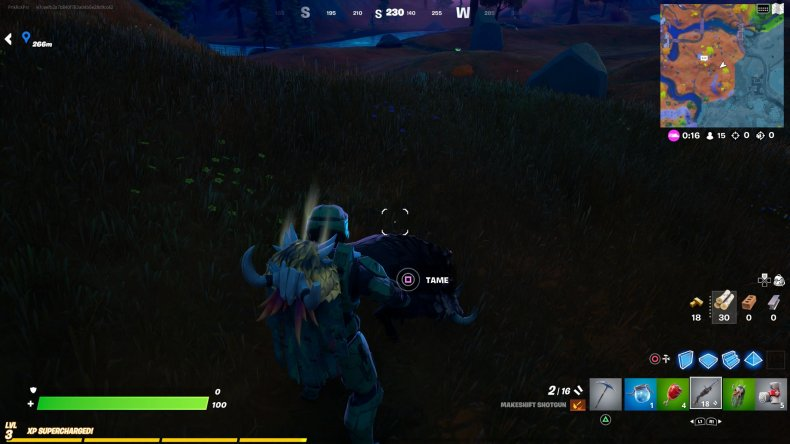 fortnite tame boar gameplay