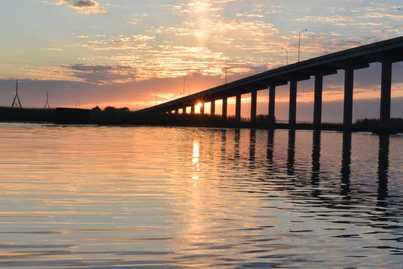 Sunrise over the Apalachicola River, Florida
