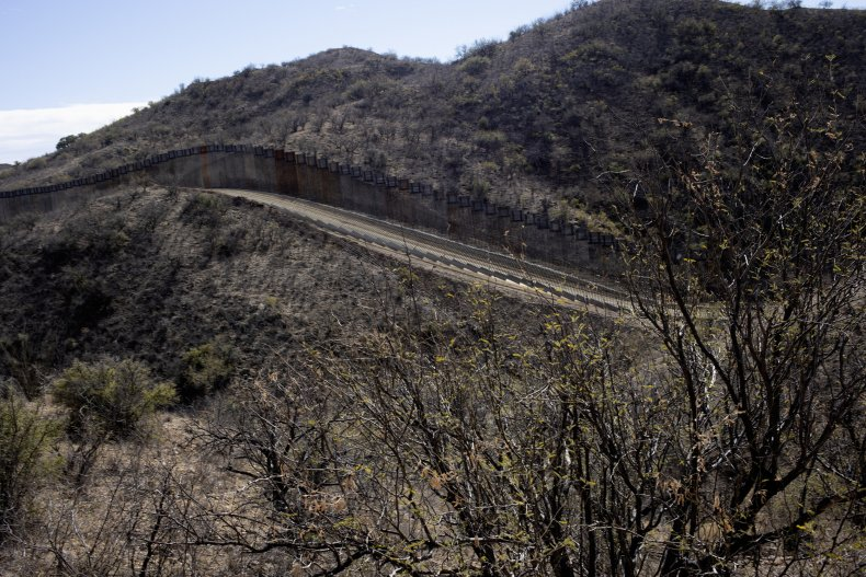 Border wall in Arizona
