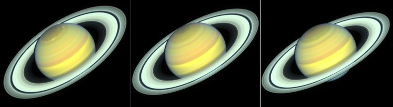 Hubble images of Saturn