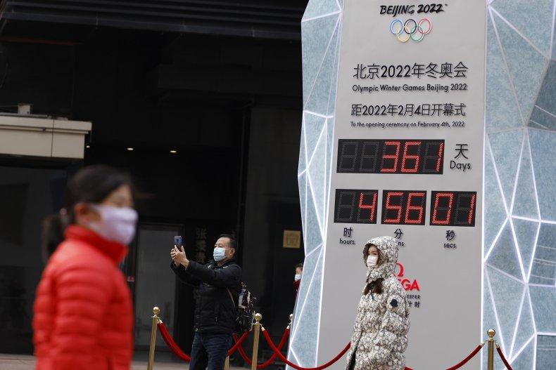 2022 Beijing Olympics countdown clock