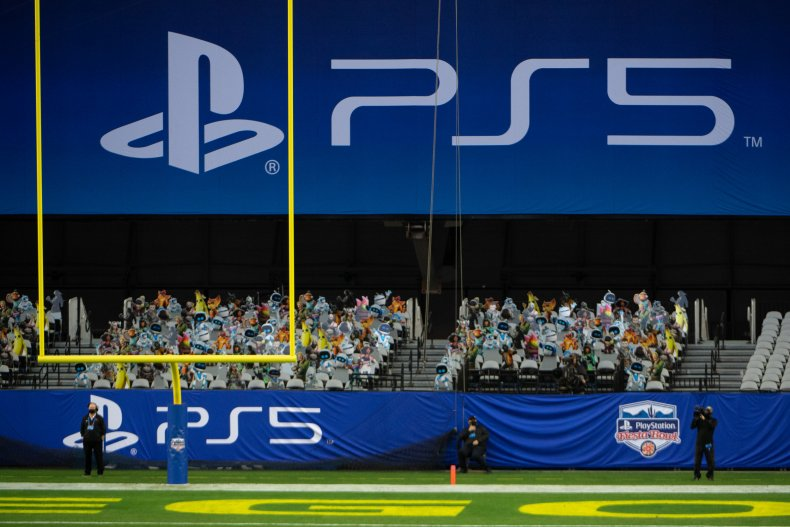 PS5 Banners at the PlayStation Fiesta Bowl