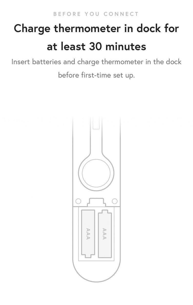 Yummly Smart Thermometer set up
