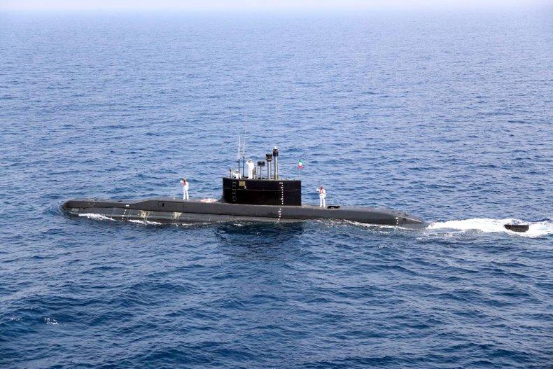 Iranian submarine pictured in Persian Gulf 2020