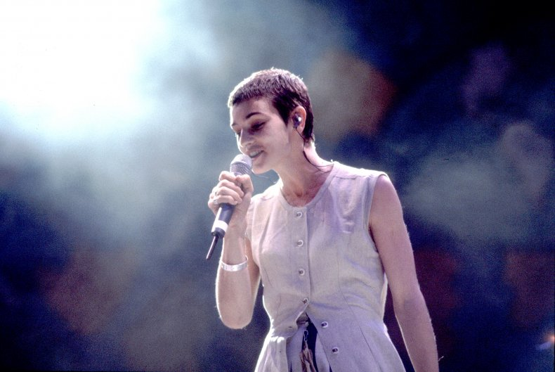 Sinead O'Connor performs onstage