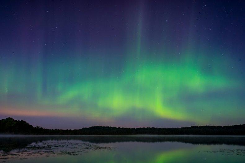 northern lights wisconsin, aurora borealis, getty, stock