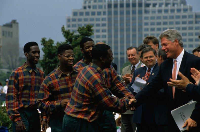 Boys II Men with Bill Clinton