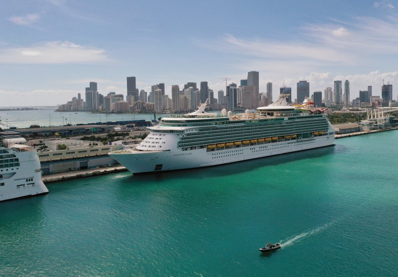 Royal Caribbean cruise ship Miami 2021