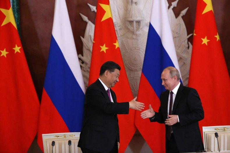 china, xi, russia, putin, hand, shake