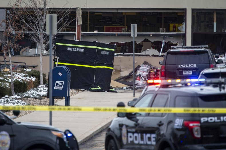 Scene from Boulder Shooting in Colorado