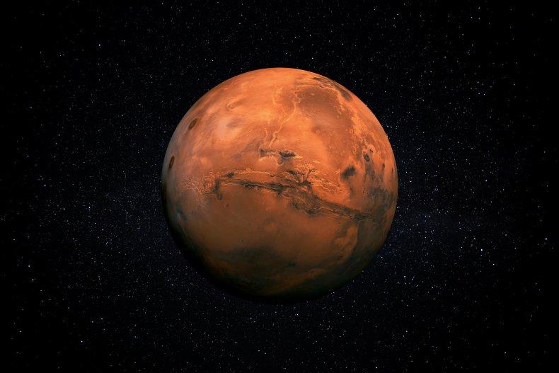Artist's impression of Mars