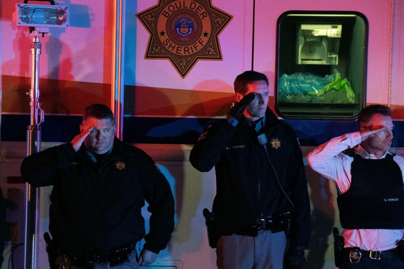 Officers salute fallen officer Eric Talley