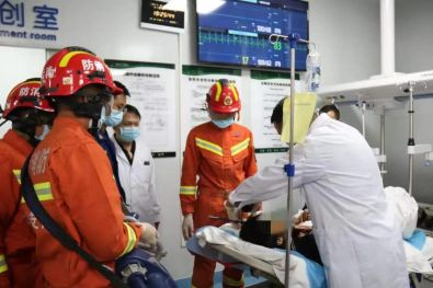 Chinese Builders Head Impaled By Steel Bar