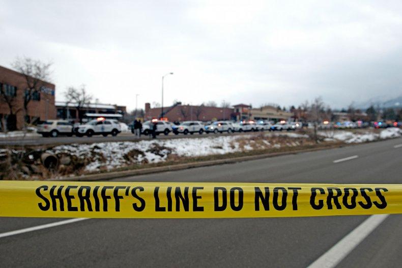 crime scene Boulder, Colorado shooting