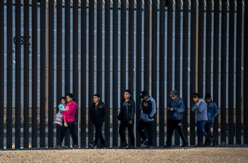 Migrants along U.S.-Mexico border
