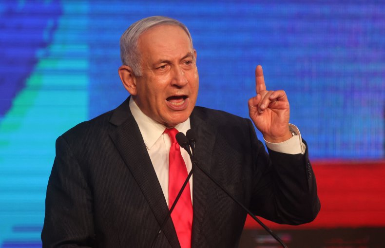 Netanyahu addresses Likud supporters after election 2021
