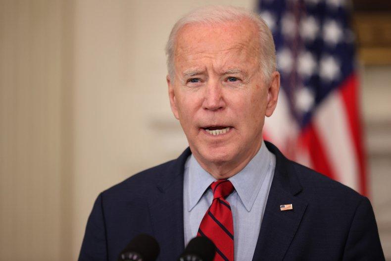 Joe Biden gives remarks in White House
