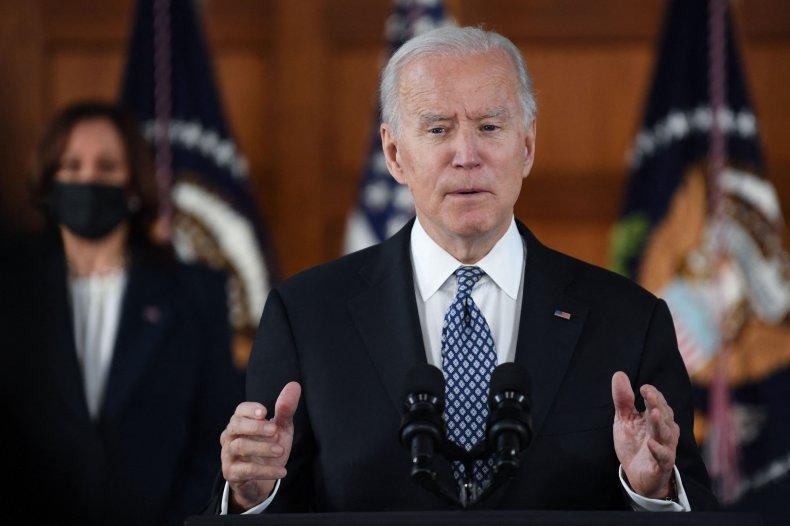Biden Speaks During a Listening Session