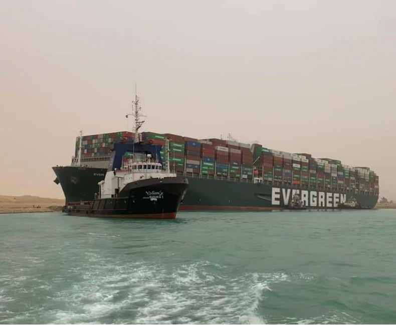 Ever Given containership Suez Canal March 2021