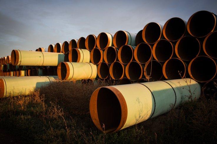 Keystone XL pipeline pipes