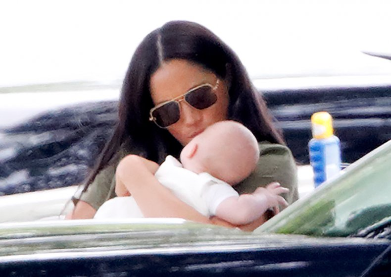 Meghan Markle and Archie Mountbatten-Winsor at Polo