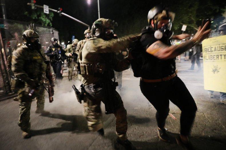 federal, law, enforcement. arrest, portland, protests