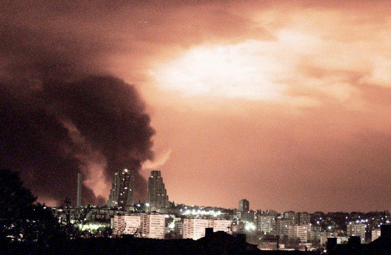 nato, bombing, belgrade, yugoslavia, 1999
