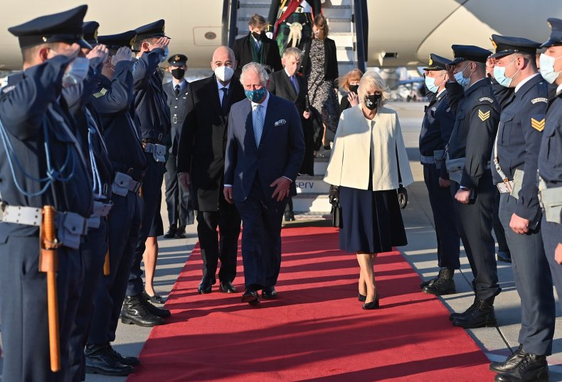 Prince Charles and Camilla Arrive in Greece