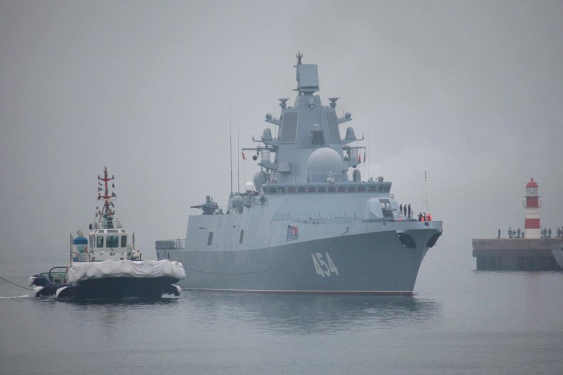 Russian Admiral Gorshkov frigate arrives in China