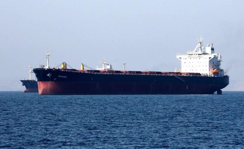 Iran oil tanker off Bandar Abbas 2019