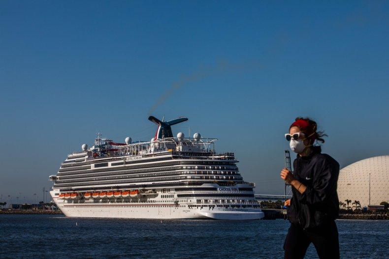 Long Beach California cruise ship April 2020