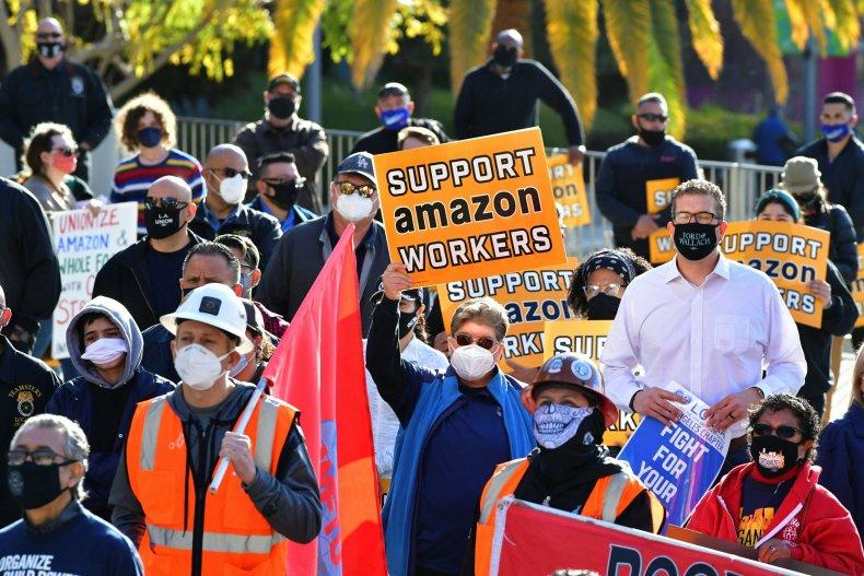 Amazon union protest