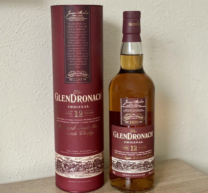 GlenDronach Origional 12 Scotch Whisky bottle