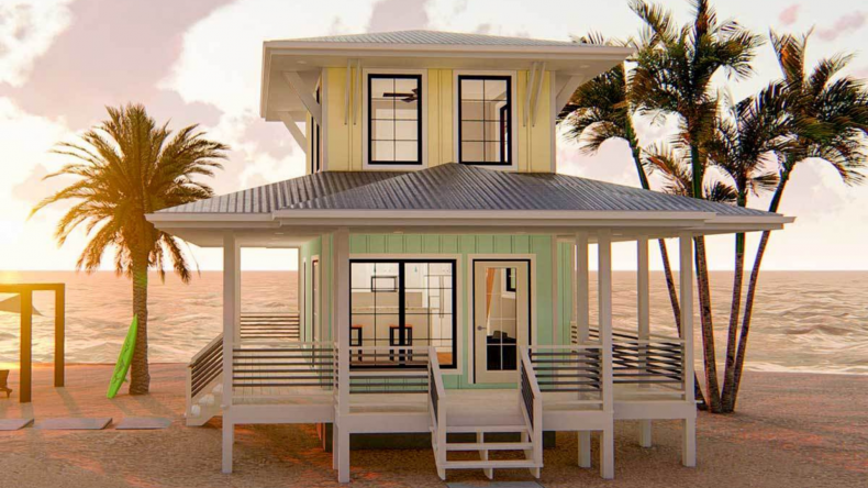 beach and waterfront home designs