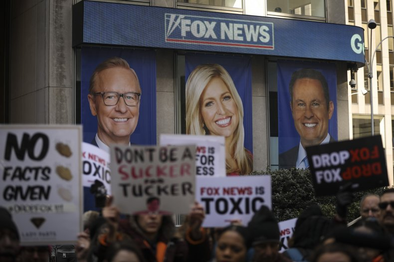 Protesters Outside Fox News Headquarters