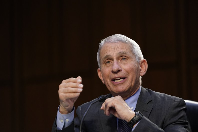 Anthony Fauci speaking during Senate Committee