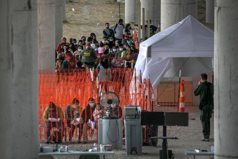 asylum seekers near Mission, Texas 3/23/2021