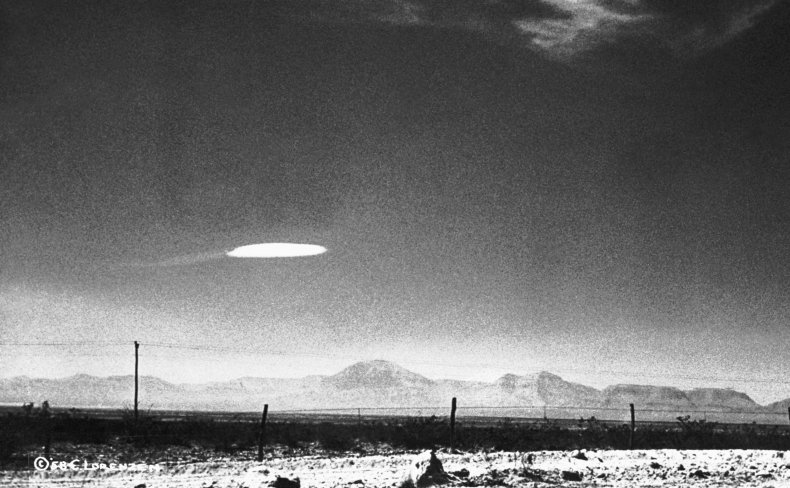 UFO over mountains