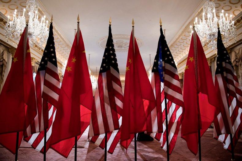 us, china, flags, meeting, washington