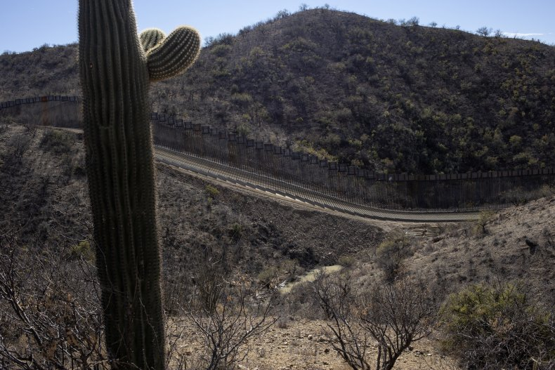 U.S.-Mexico border wall in Arizona