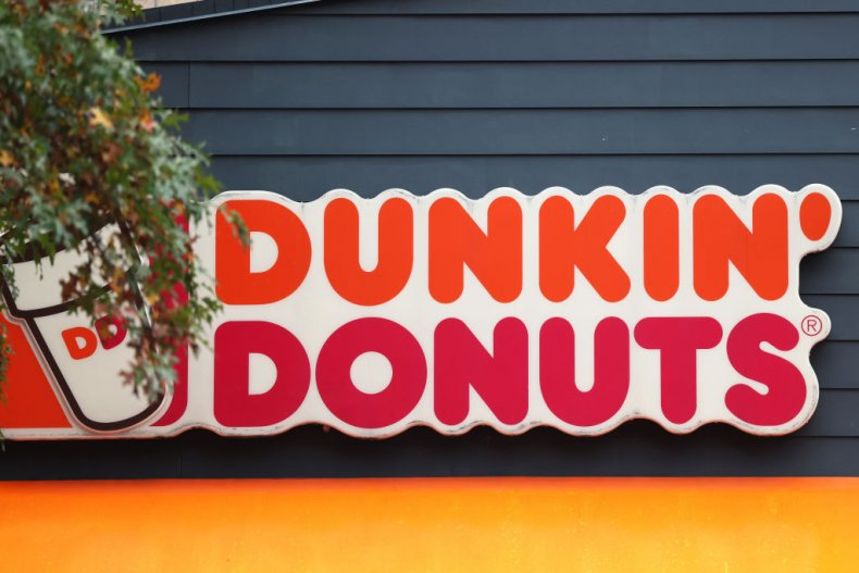 Dunkin's Donuts sign