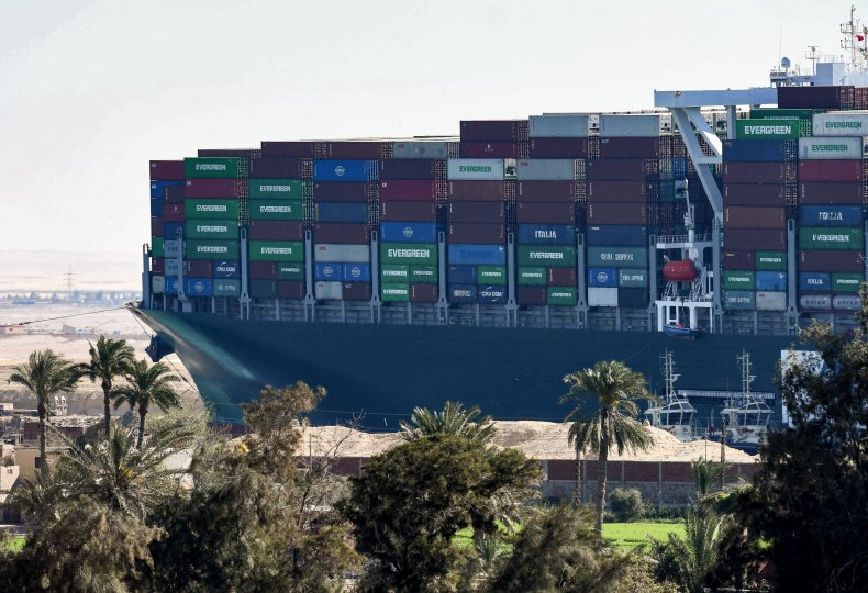 Ever Given stuck in the Suez Canal